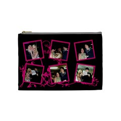 Funky Pink Cosmetic Bag By Catvinnat   Cosmetic Bag (medium)   Lq6jegrcodwf   Www Artscow Com Front