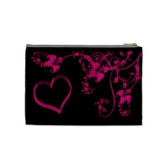 Funky Pink Cosmetic Bag By Catvinnat   Cosmetic Bag (medium)   Lq6jegrcodwf   Www Artscow Com Back