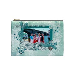 Sandy Cosmetic Bag By Karen Starkey   Cosmetic Bag (medium)   0wr0m7dd6vq1   Www Artscow Com Front