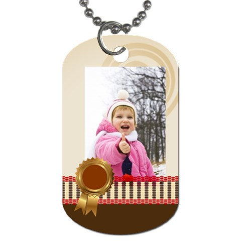 Kids By Wood Johnson   Dog Tag (one Side)   Pcjdek8k7czi   Www Artscow Com Front
