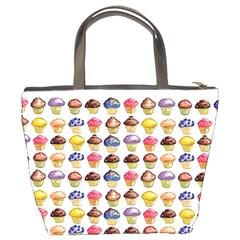 Alana Loves Cupcakes Bucket Bag By Catvinnat   Bucket Bag   S3bxnle45lzg   Www Artscow Com Back
