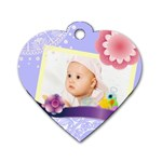 Flower Baby - Dog Tag Heart (One Side)