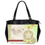 Leaping donkey Oversize Office Handbag (Two Sides)