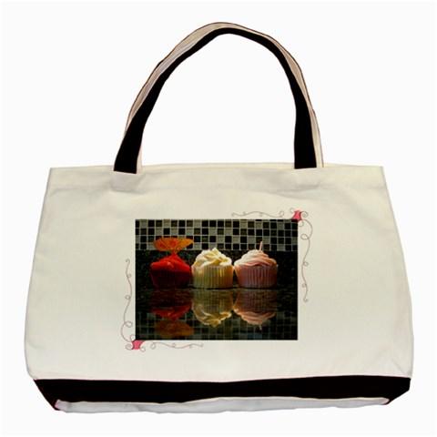 Birthday Cupcakes! By Alana   Basic Tote Bag   Eyuaity4tbya   Www Artscow Com Front