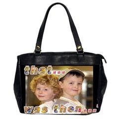 That Was Then    This Is Now! Oversize Bag By Catvinnat   Oversize Office Handbag (2 Sides)   Ce2z42ebhrl9   Www Artscow Com Front