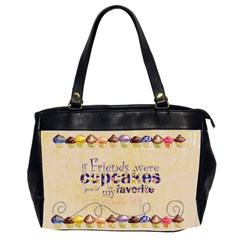 Chocolate Cupcakes Oversized Handbag By Catvinnat   Oversize Office Handbag (2 Sides)   Fhmzqas1yjol   Www Artscow Com Front