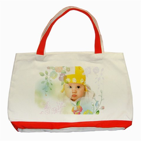 Flower Baby By Wood Johnson   Classic Tote Bag (red)   7lm5owckik1s   Www Artscow Com Front