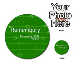 Remembory Mexico By Niki Vogel   Multi Purpose Cards (round)   Fjq7nl6i3yh2   Www Artscow Com Front 48