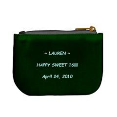 Lauren Sweet 16 By Paulette Dubosky   Mini Coin Purse   Fmc3jl03q9ts   Www Artscow Com Back