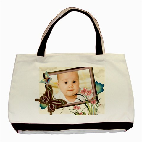 Flower Baby By Wood Johnson   Basic Tote Bag   Xkdptuuhf4e5   Www Artscow Com Front