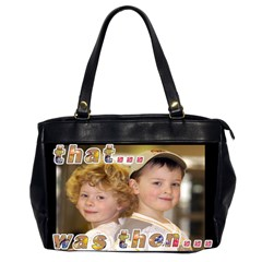 That Was Then     This Is Now! Oversize Bag By Catvinnat   Oversize Office Handbag (2 Sides)   6pceg6ko5l50   Www Artscow Com Front