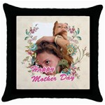 happy Mother day - Throw Pillow Case (Black)
