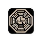dharma posavasos - Rubber Coaster (Square)