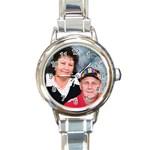/; - Round Italian Charm Watch