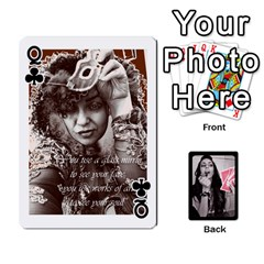 Queen Playing Cards By Nena   Playing Cards 54 Designs   7njuwmh1503f   Www Artscow Com Front - ClubQ