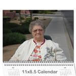 mom bday - Wall Calendar 11  x 8.5  (12-Months)