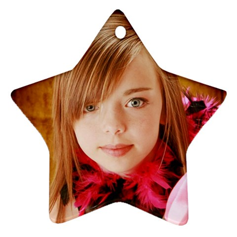Maddie By Valeriemarie   Ornament (star)   Q2iu3z620p1k   Www Artscow Com Front