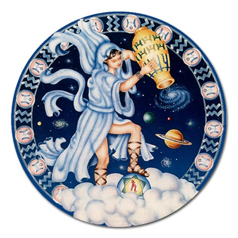 Aquarius Magnet By Enkay   Magnet 5  (round)   Hj9rw89j4vac   Www Artscow Com Front