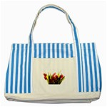 5 Striped Blue Tote Bag