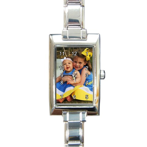 Watch Them Grow By Chastity   Rectangle Italian Charm Watch   6zxe8uaclx8o   Www Artscow Com Front