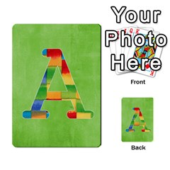 Flash Cards Abc By Brookieadkins Yahoo Com   Multi Purpose Cards (rectangle)   Sozoljc264mq   Www Artscow Com Front 1