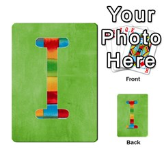 Flash Cards Abc By Brookieadkins Yahoo Com   Multi Purpose Cards (rectangle)   Sozoljc264mq   Www Artscow Com Front 9