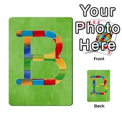 Flash Cards Abc By Brookieadkins Yahoo Com   Multi Purpose Cards (rectangle)   Sozoljc264mq   Www Artscow Com Front 2