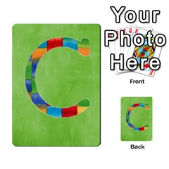 Flash Cards Abc By Brookieadkins Yahoo Com   Multi Purpose Cards (rectangle)   Sozoljc264mq   Www Artscow Com Front 3