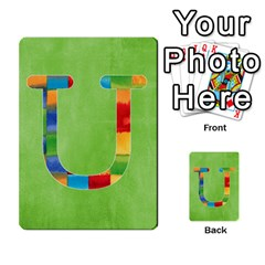 Flash Cards Abc By Brookieadkins Yahoo Com   Multi Purpose Cards (rectangle)   Sozoljc264mq   Www Artscow Com Front 21