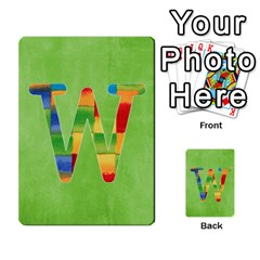 Flash Cards Abc By Brookieadkins Yahoo Com   Multi Purpose Cards (rectangle)   Sozoljc264mq   Www Artscow Com Front 23
