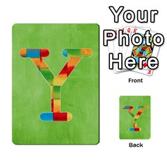 Flash Cards Abc By Brookieadkins Yahoo Com   Multi Purpose Cards (rectangle)   Sozoljc264mq   Www Artscow Com Front 25