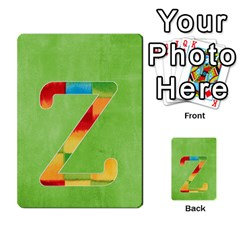 Flash Cards Abc By Brookieadkins Yahoo Com   Multi Purpose Cards (rectangle)   Sozoljc264mq   Www Artscow Com Front 26