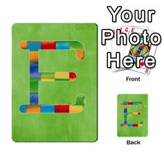 Flash Cards Abc By Brookieadkins Yahoo Com   Multi Purpose Cards (rectangle)   Sozoljc264mq   Www Artscow Com Front 5