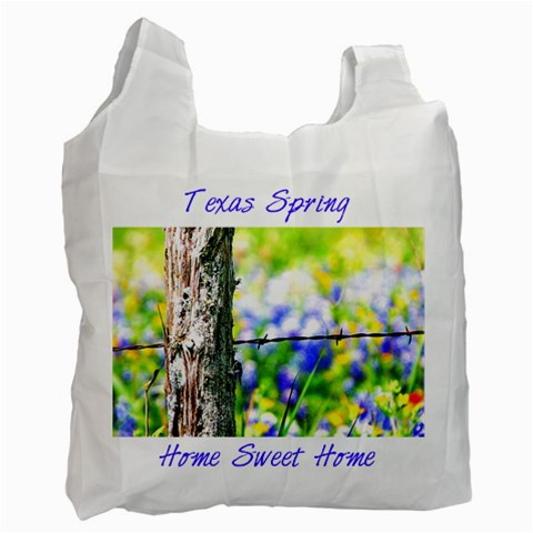 Tx Home Sweet Home Singleside By Paula Fulford   Recycle Bag (one Side)   Ihboljgzlian   Www Artscow Com Front