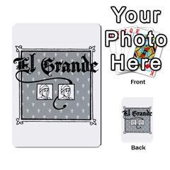 El Grande Cartes Actions En Francais By Plastic77   Multi Purpose Cards (rectangle)   Flvmm9alswjy   Www Artscow Com Back 18