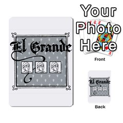 El Grande Cartes Actions En Francais By Plastic77   Multi Purpose Cards (rectangle)   Flvmm9alswjy   Www Artscow Com Back 30