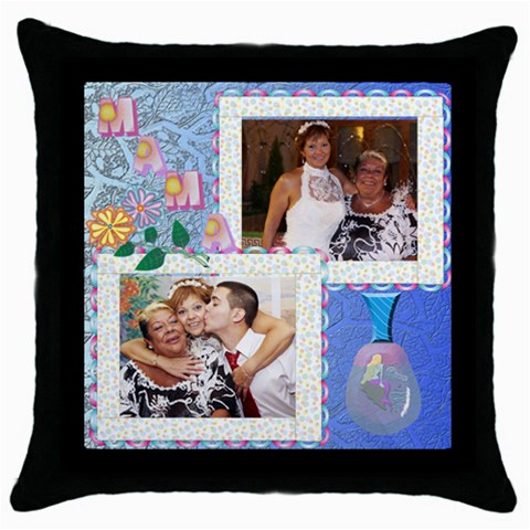 Cojin Mama By Lydia   Throw Pillow Case (black)   U0x7a1f53f95   Www Artscow Com Front