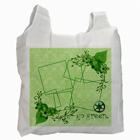 Green Bag, 1 Side (2) By Mikki   Recycle Bag (one Side)   Opgmf02x3yn6   Www Artscow Com Front