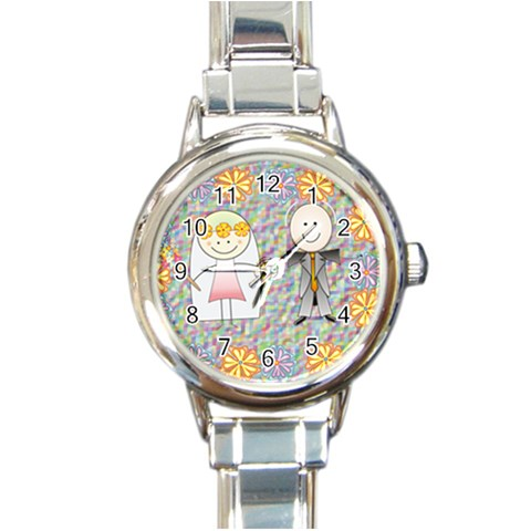 Reloj Novios By Lydia   Round Italian Charm Watch   Pl3aizat3cle   Www Artscow Com Front