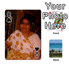 Queen Playing Card 2 By Saurabh   Playing Cards 54 Designs   Rcahd5eqm91h   Www Artscow Com Front - SpadeQ