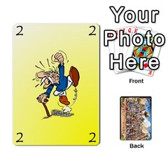 Asterix Battleline Deck2 By Alvise Fiume   Playing Cards 54 Designs   585aoul8nunn   Www Artscow Com Front - Spade3