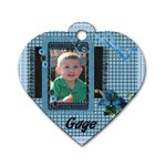 gagedogtag1 - Dog Tag Heart (One Side)