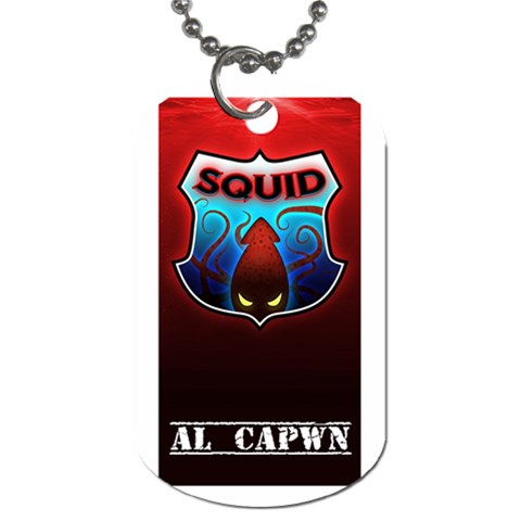 Squid Dogtag By Nick   Dog Tag (one Side)   Eioo5dy2xnqq   Www Artscow Com Front