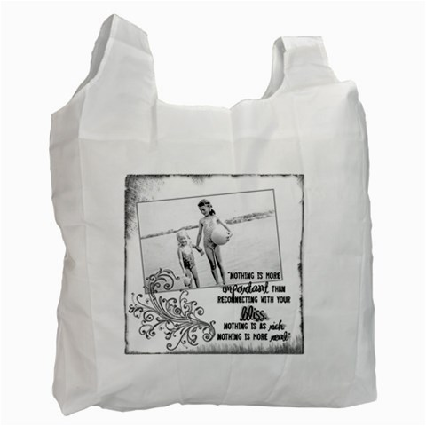 Seaside Bliss Recycle Bag By Catvinnat   Recycle Bag (one Side)   Nhs9bl62m5yr   Www Artscow Com Front
