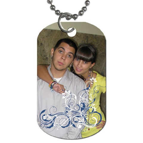 Sergio Y Tiff Grandes By Lydia   Dog Tag (one Side)   A4qwrbe0fxb9   Www Artscow Com Front