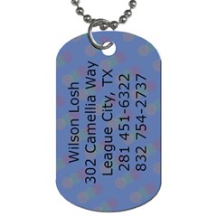 Wilson s Tag By Amy Losh   Dog Tag (two Sides)   C0r5su3txq1q   Www Artscow Com Back