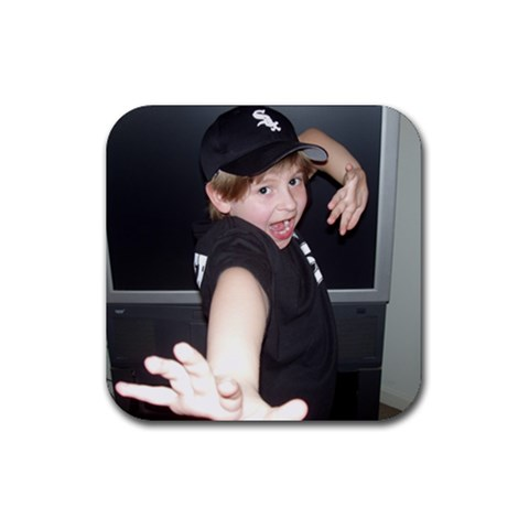 Baseball Season  10 By Cathi   Rubber Coaster (square)   6ebidr0himbb   Www Artscow Com Front
