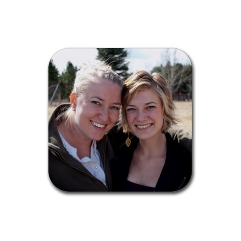 Bethanne And Me Coaster By Mary   Rubber Coaster (square)   Cba5d59g8h7h   Www Artscow Com Front