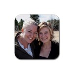 bethanne and me coaster - Rubber Coaster (Square)