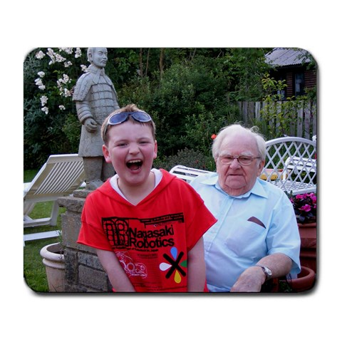 Nathan & Grandad By Catvinnat   Large Mousepad   6n9xq0ab6ioc   Www Artscow Com Front